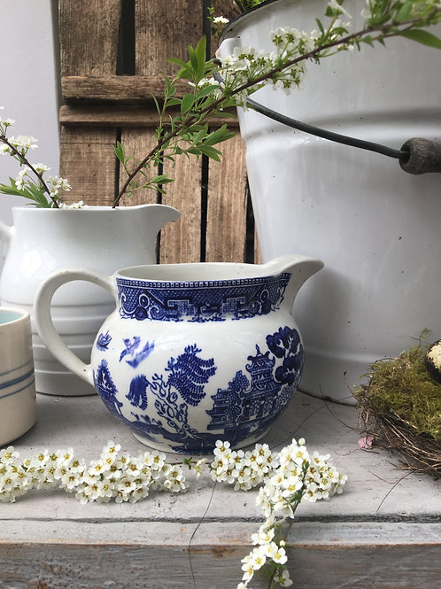 Vintage Blue & White Jug