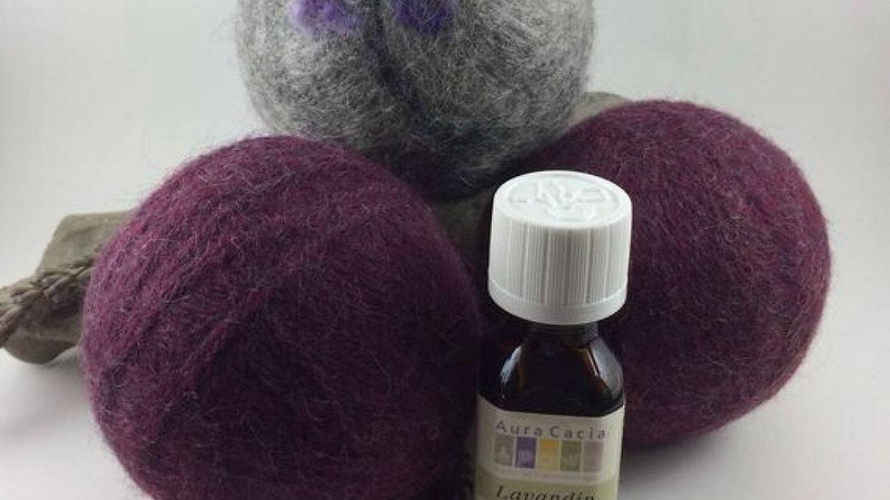 HandFelted Themed Dryer Ball Set - Lavender