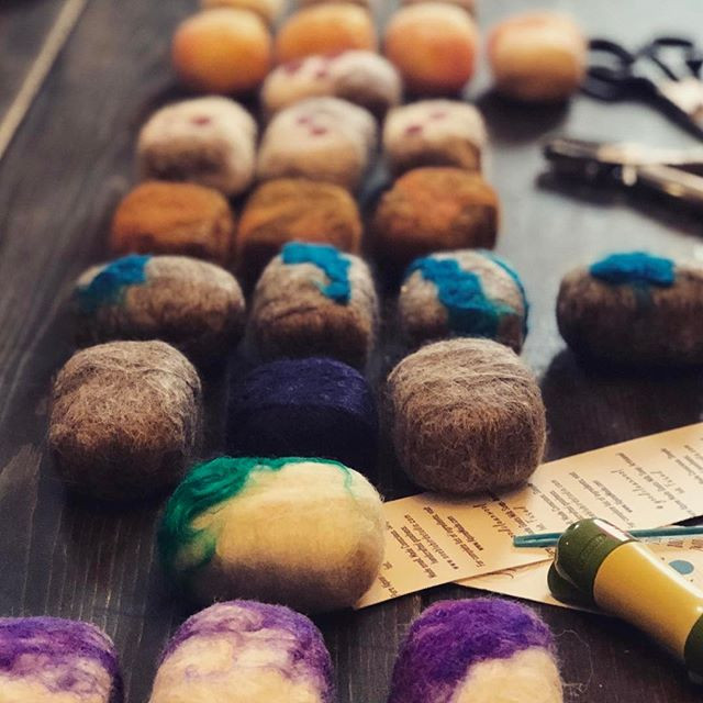 #goodcleanwool  felted Alpine made soaps