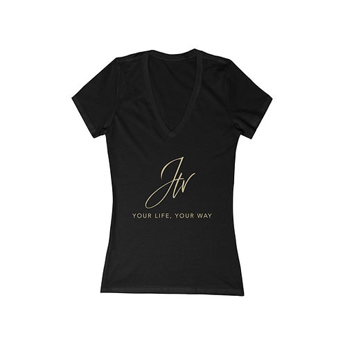 Janette's TV - Your Life, Your Way - Women's Jersey Short Sleeve Deep V-Neck Tee