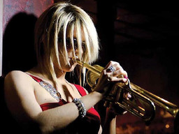 Cindy Bradley Trumpets Jazz Music at Palm Springs Festival