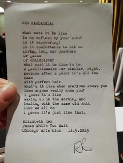 Typewriter poem 3