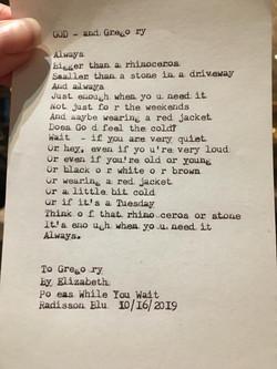 Typewriter poem 1