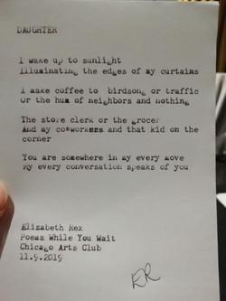 Typewriter poem 2