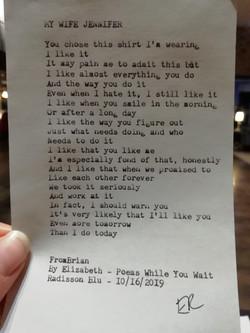 Typewriter poem 4