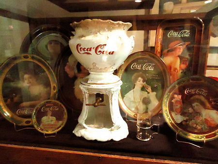 Living with your collection-Coca-Cola early trays and dispenser