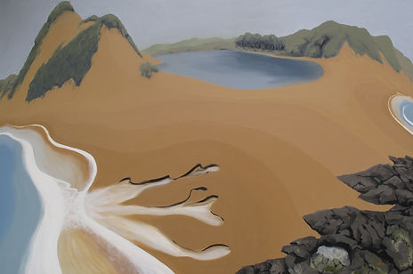 Artwork by Phil Henshall titled Powlett River Dam