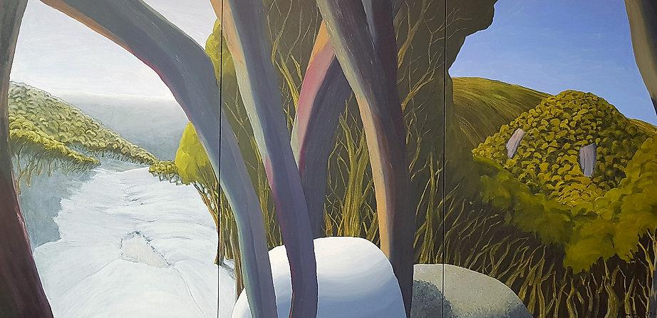 Artwork by Phil Henshall titled 2 Windows on Mt Mueller