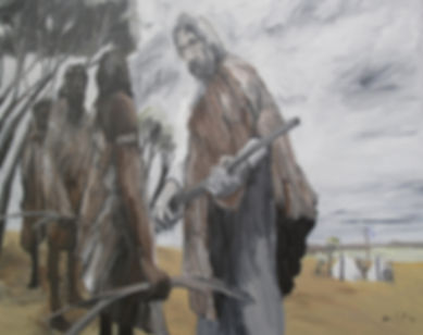 Artwork by Phil Henshall titled Kulin impatience