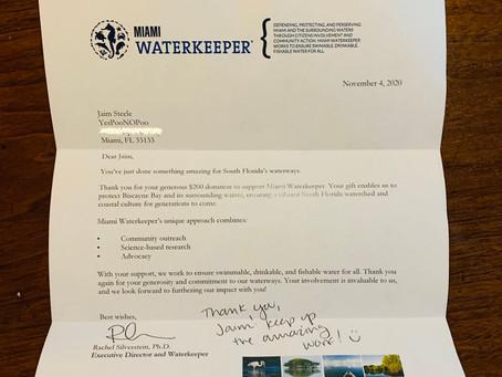 Thank You Miami Waterkeeper!