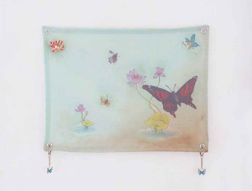 Untitled small fabric banner 1