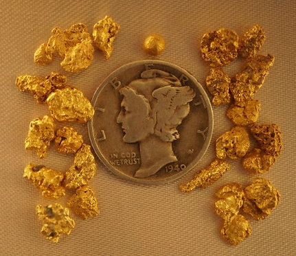 Natural Gold at goldnuggetman.com