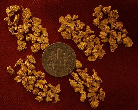 Natural Gold Nuggets at goldnuggetman.com
