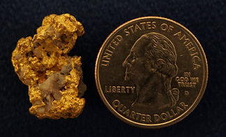 Large Gold and Quartz Nugget gnmda110