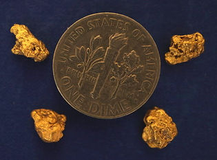 Genuine Gold Nuggets gnmcol122