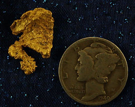 Natural Gold Nugget gnm205