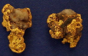Natural Gold and Quartz Specimens gnmda512