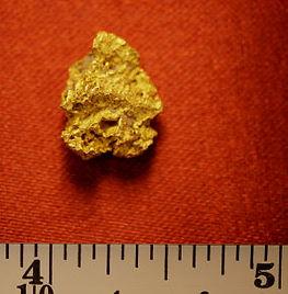 Medium Gold Nugget Golden Bird Point gnm165