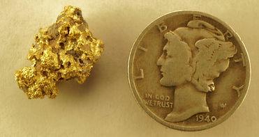 Medium Gold Nugget gnm128