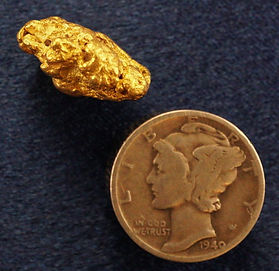Large Gold Nugget gnm165