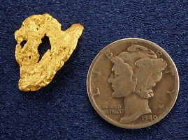 "Small Gold Nugget ""The Mask"" gnm125"