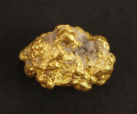 Gold and Quartz Nugget at goldnuggetman.com