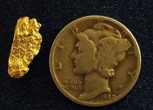 Small Gold Nugget gnm185