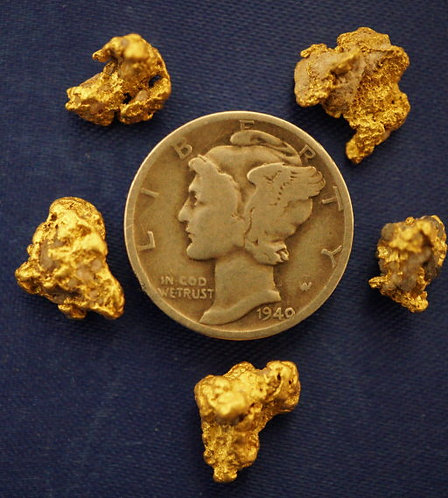 Genuine Nevada Gold Nuggets at goldnuggetman.com