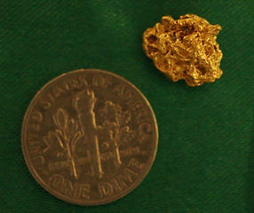 Small Gold Nugget gnm203