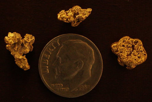 Genuine Nevada Gold Nuggets at goldnuggetman.com