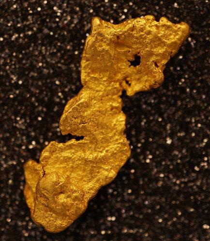 "Large Gold Nugget ""The Golden Yoda"" 8.01 Grams at goldnuggetman.com"