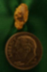 Natural Gold and Quartz Specimen Captured Snowflake gnm151