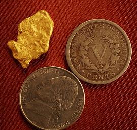 Medium Gold Nugget gnm172