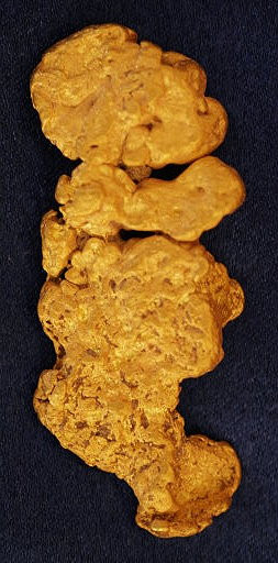 Weighing in at nearly an ounce and half, this solid gold nugget is an underworld alien!