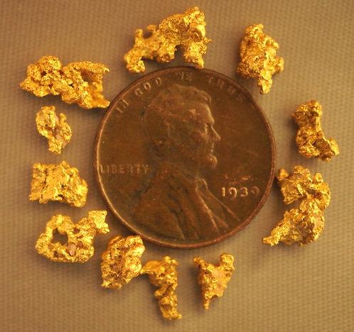 Natural Gold Nuggets For Sale at goldnuggetman.com