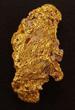 "Natural Gold Nugget ""Honest Abe"" gnm105"