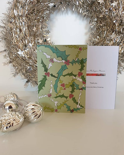 Green Holly card