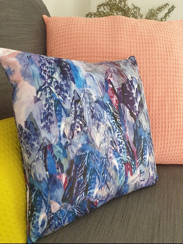 Purple Mountain Cushion