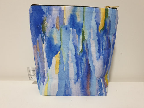 Blue Large Make Up Bag -SOLD OUT