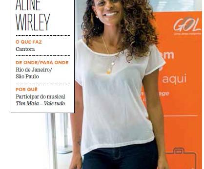 Aline na Revista da Gol Linhas Aéreas.