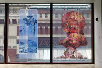 After Fan Kuan's Travellers among Mountains and Streams, 990 A.D, China: Contemporary Landscape (installation view1)