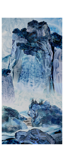 After Fan Kuan's Travellers among Mountains and Streams, 990 A.D, China: Contemporary Landscape