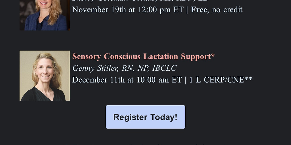 USLCA Webinar: Sensory Concious Lactation Support