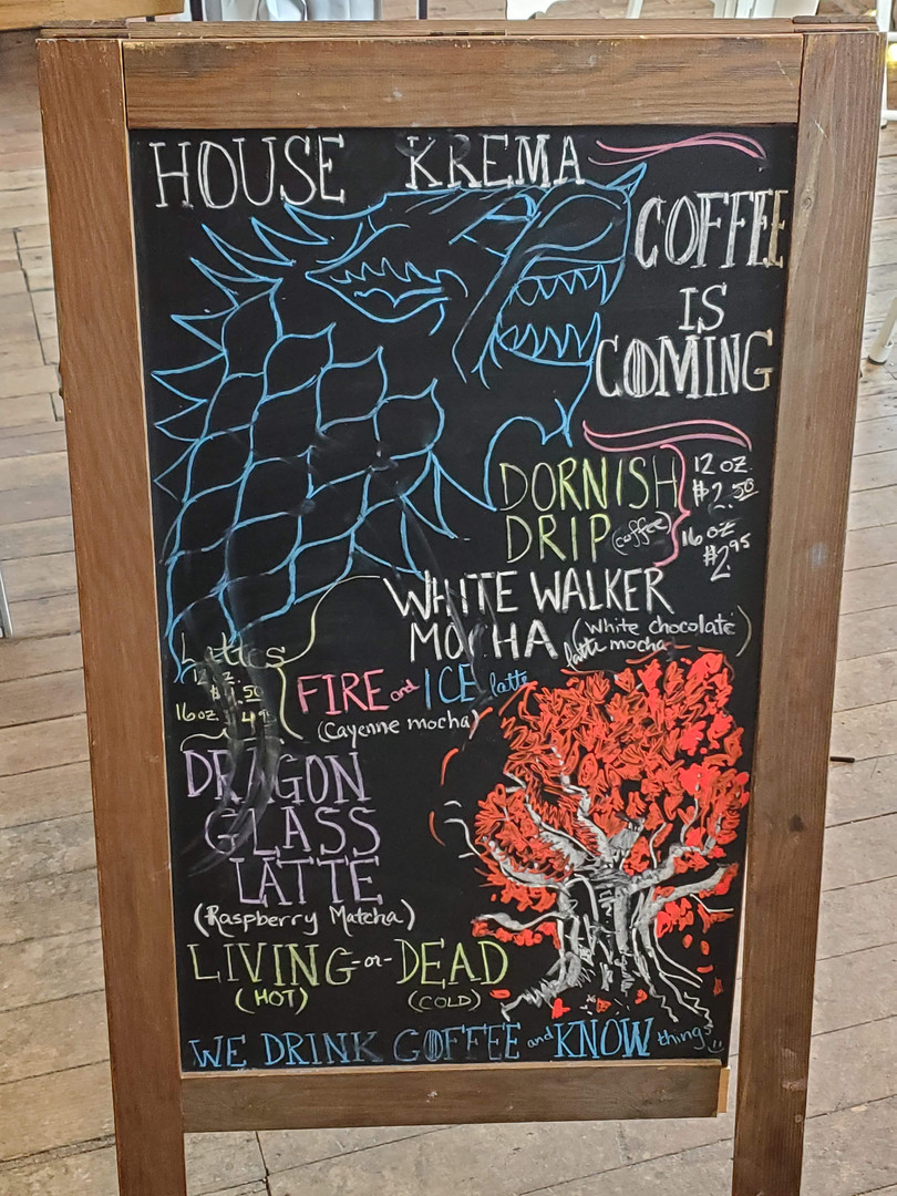 Krema Game of Thrones Drink Specials