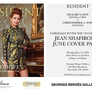 Resident Magazine Cover Celebration for Jean Shafiroff