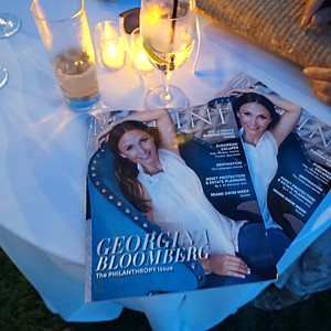 Resident Magazine's Cover Launch Party in the Hamptons- Georgina Bloomberg