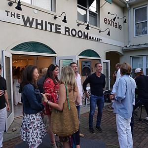 White Room Gallery Reception in Bridgehampton