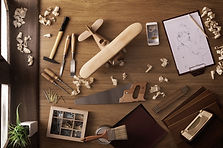 Tools on a desk