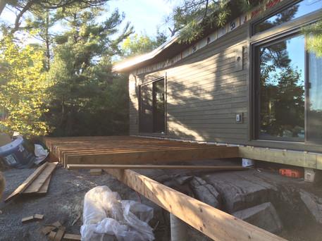 Custom cottage deck construction