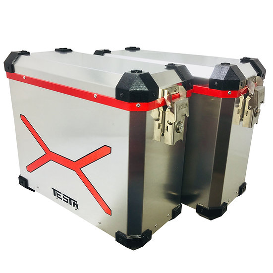laterales 22 litros URBAN color Negro/aluminio PERSONALIZADO